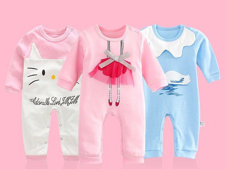 discount newborn baby baptism clothing infant cartoon cotton clothes