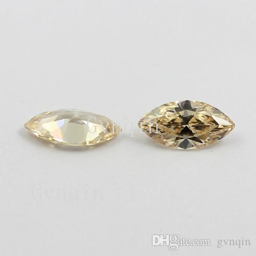 7x14mm AAAAA light champagne cubic zirconia marquise loose gem stones