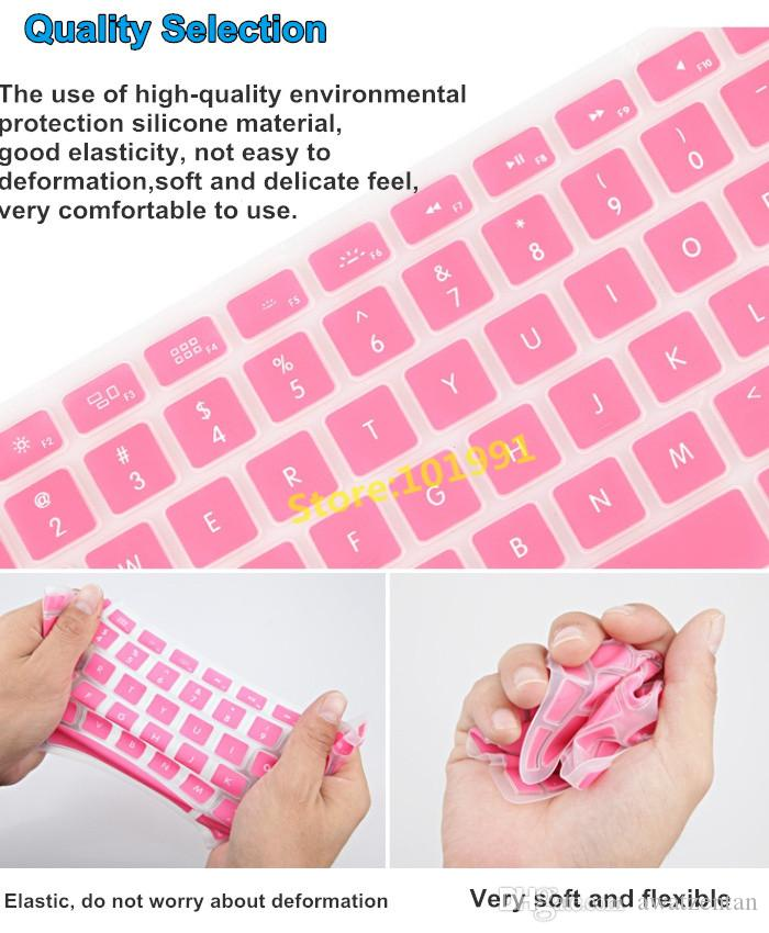 Freies Verschiffen -New Kristallschutz 11.6 Zoll bunter Silikon-Haut-Tastatur-Abdeckungs-Schutz für Luft A-p-p-l-e M-a-c-B-o-o-k