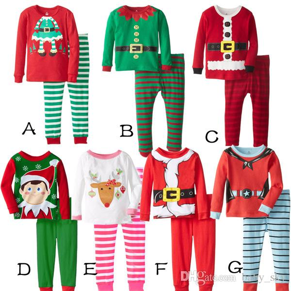 2017 Christmas Pajamas Baby Clothes Winter Boy Girl Kids Clothing ...