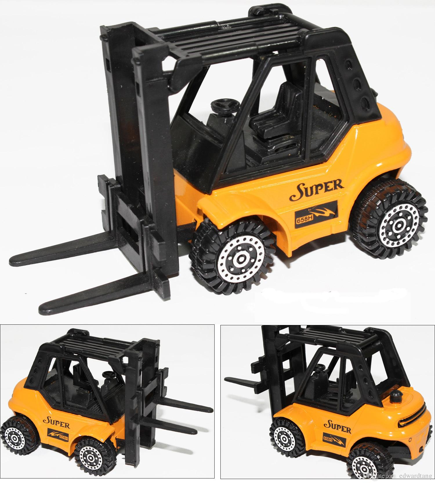 2017 alloy car model mini car toys forklift truck engineering vans 4 different patterns high simulation kid gifts collecting decoration from