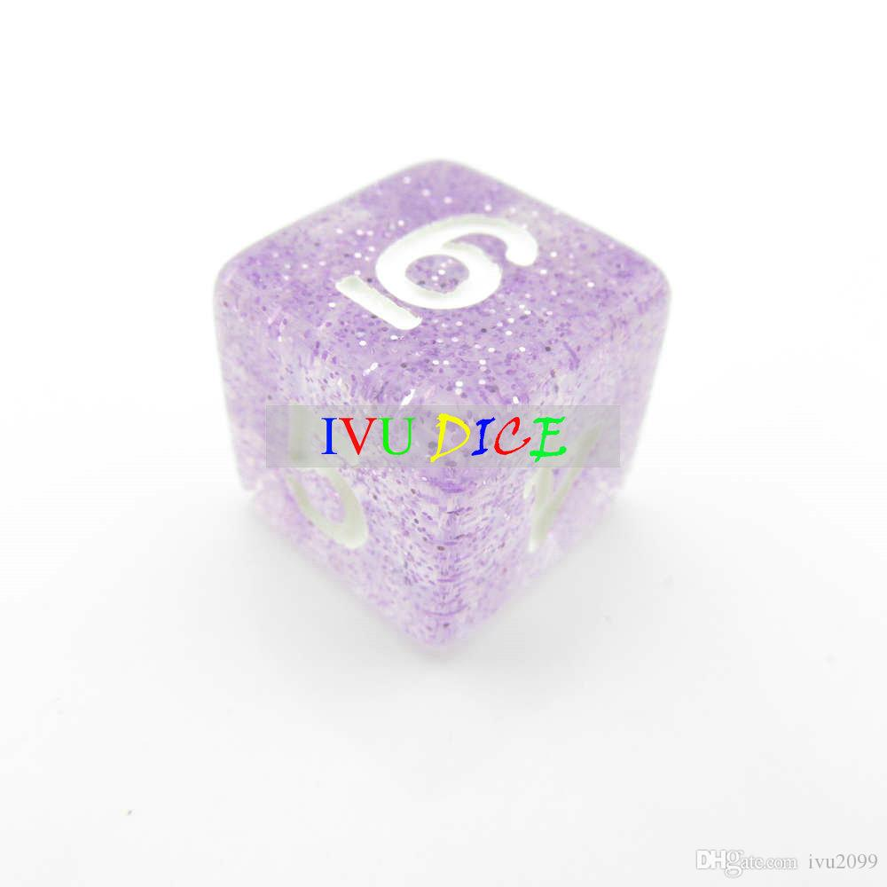 DND Table OEM BOARD GAME Dungeons&Dragons number dice star Transparent purple D4 D6 D8 D10 D12 D20 dices IVU