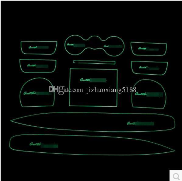 Zubehör fit für Range Rover 2013-2017 Anti-Rutsch-gummi Cup Cushion Tür Nut Matte 11 stücke 2014 2015 2016 Auto-Styling Aufkleber