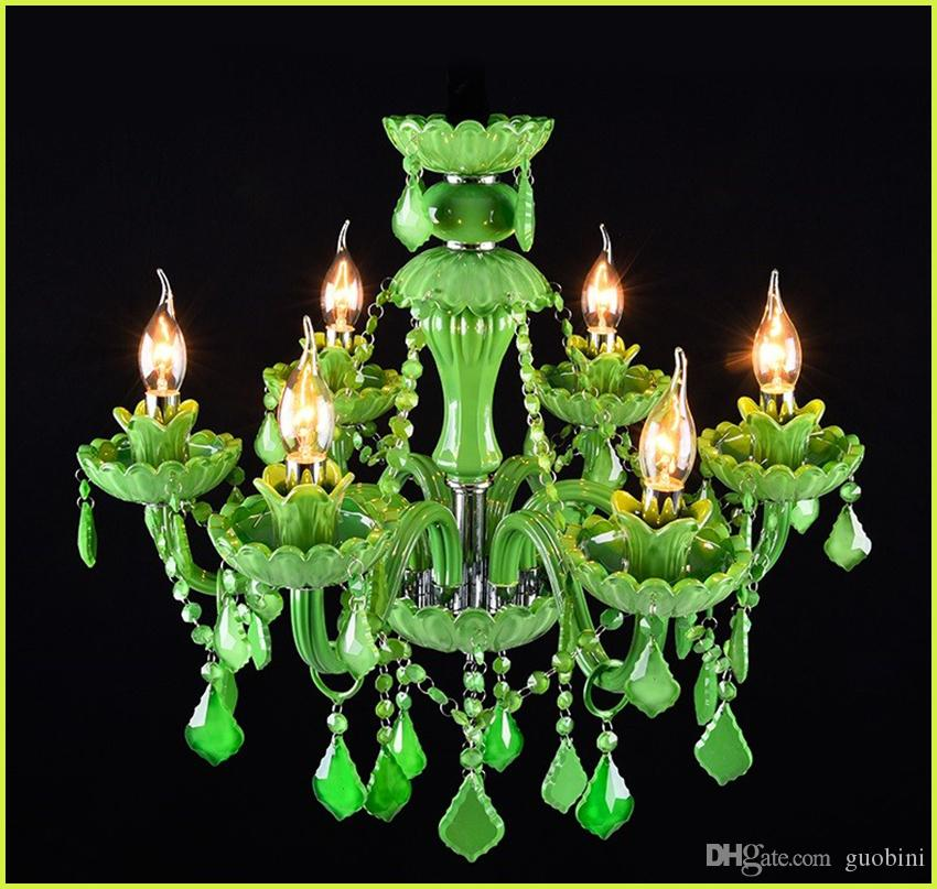Green crystal chandelier creative glass lamp coffee restaurant green crystal chandelier creative glass lamp coffee restaurant candle crystal chandelier bar dining room lampe candle lamp pendant light cord brushed nickel aloadofball Images