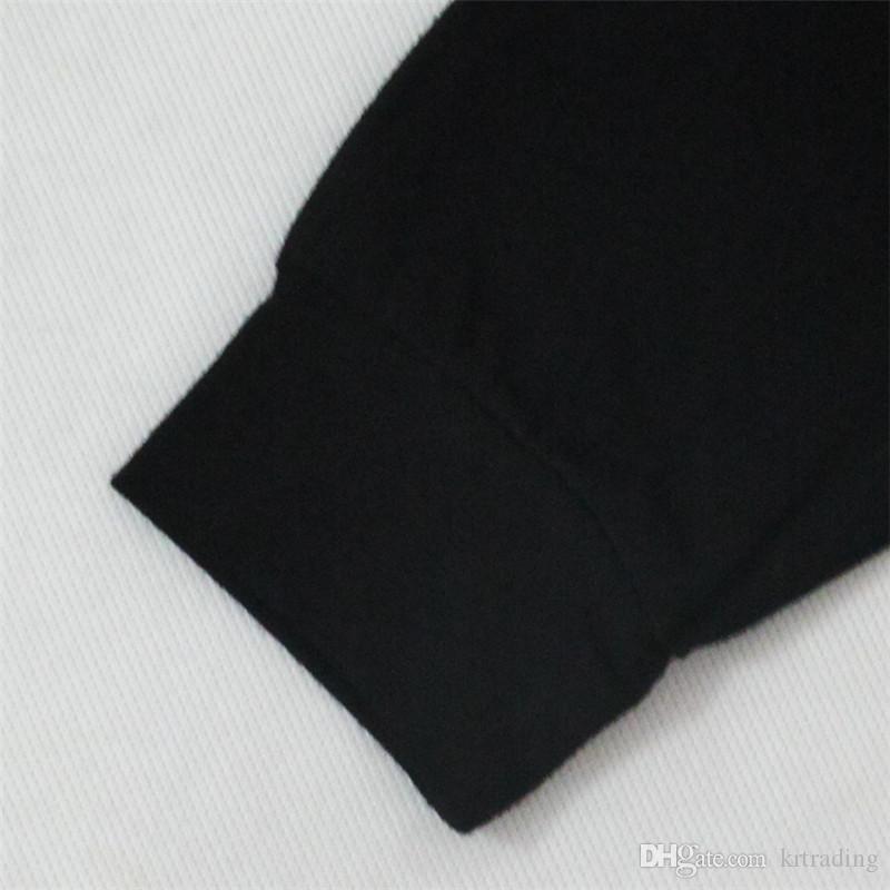 Детские осенние письма печати наряды 2 шт. набор с длинным рукавом черный печати пуловер+сплошной цвет гарем брюки младенцев мода наряды для 0-3T