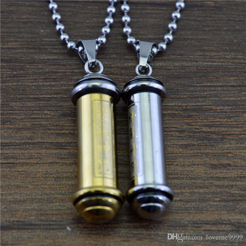 высокое качество нержавеющей стали 316L некроманта Амулет трубки кулон кремации пепел урны подвески ожерелье ювелирных изделий
