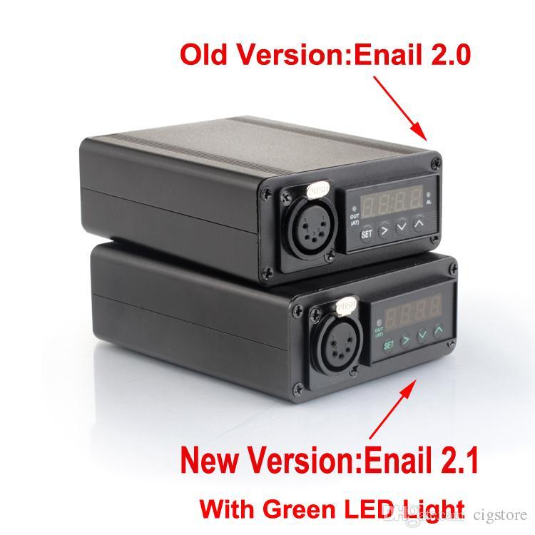 100% Origianl G9 Greenlight Enail Dnail Kit Kavlar Coil PID TC DNail Dab rig Titanium Nail Domeless Dnail kit D-Nail E-Nail WAX Vaporizer