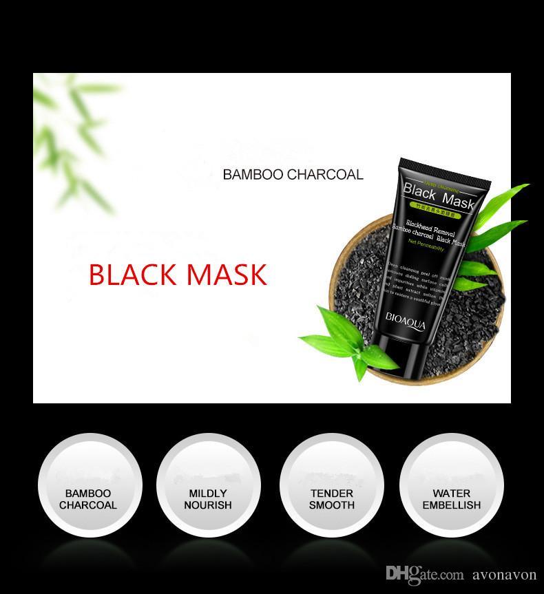2017 черный всасывания Маска BIOAOUA 50мл подставных глубокое очищение очищающий шелушиться Черная маска удалить Черноголовых Peel маски B265