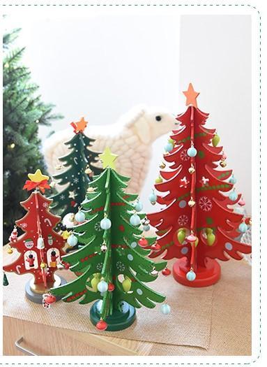 creative diy 3d wooden mini christmas tree top table decorations top boys toys for christmas top toys christmas from pleasant_baabaa 662 dhgatecom - Mini Christmas Trees