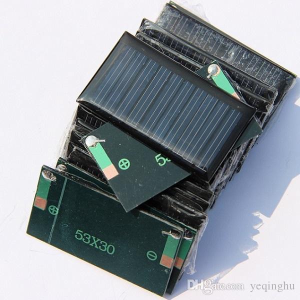 5V 30mA 53X30mm Solar celular Mini Small Power Toy Solar DIY Painel Para 3.6V Battery Charger Educação kits / frete grátis