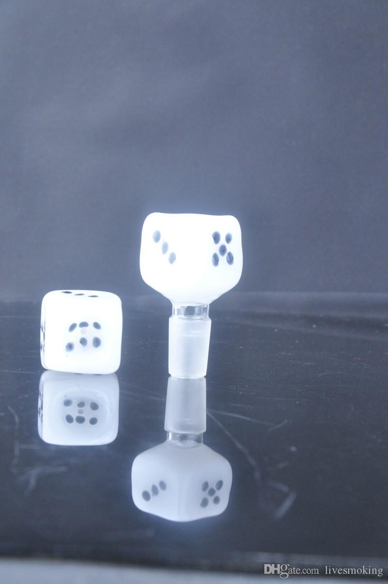 Venta al por mayor Barato Nueva llegada dados Tazones de vidrio para hierba seca 14 mm macho Tazón de vidrio cubo de vidrio tazón de vidrio para bongs de vidrio