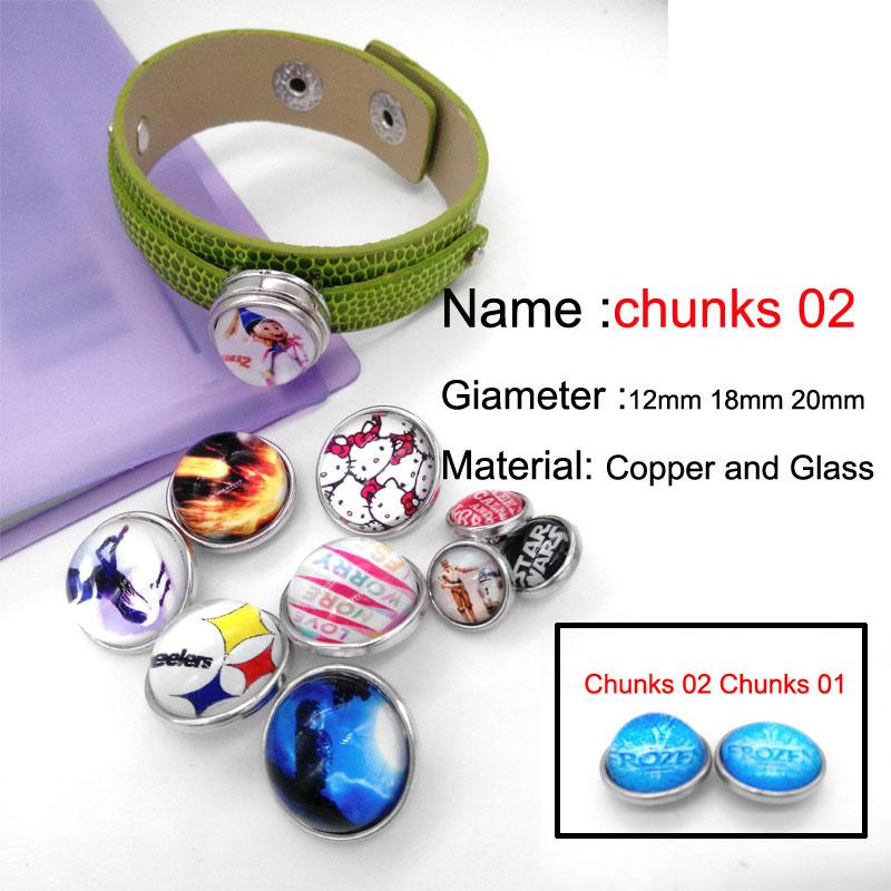 48 pçs / lote logotipo Da Equipe botão de pressão de vidro jóias liga de luxo inferior fit ginger snaps botão longo colar GS2582 uma direção jóias maki