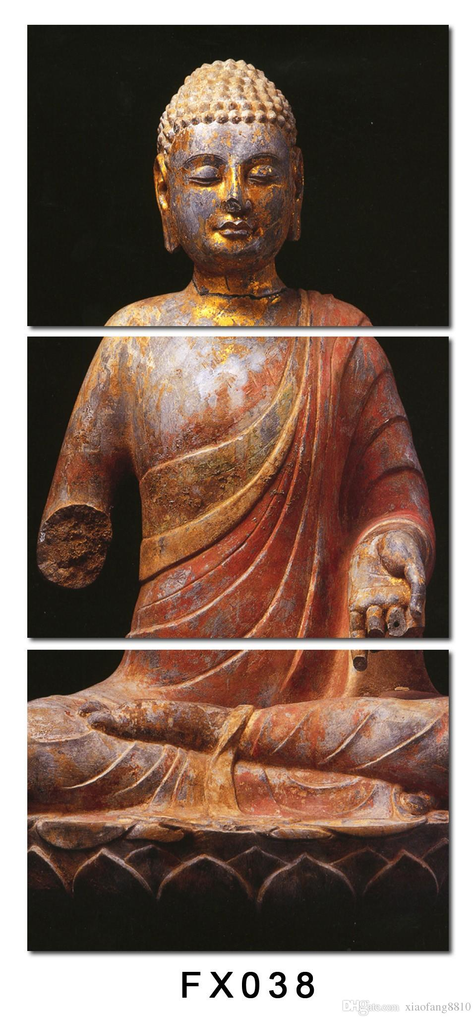 Home decor canvas, paintings on the walls Mould Cuadros full Buddha Trusts deep in our heart for the living room no frame