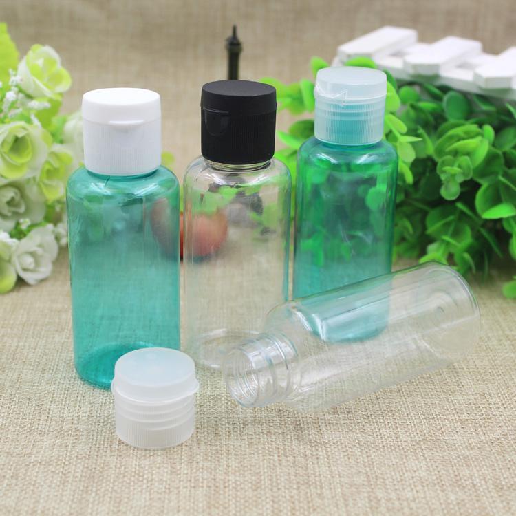 80 мл бутылки многоразового использования ПЭТ пустое моющее средство флип-топ крышка бутылки макияж раскладушка ясно зеленые бутылки