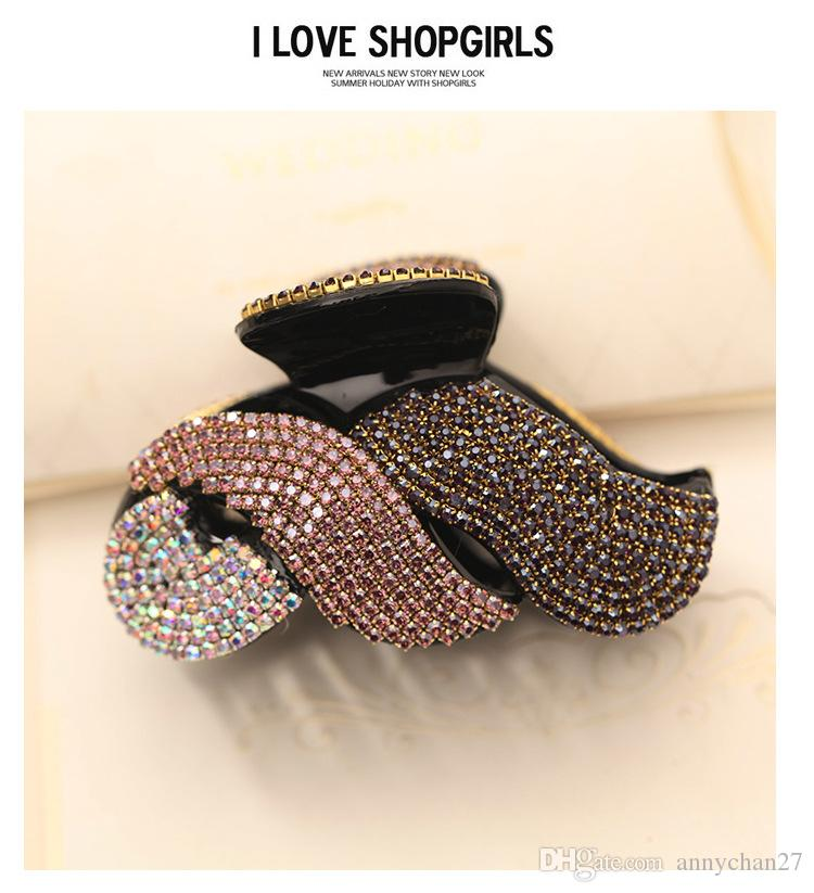 Hot Best Clamps Luxury New Hair Jewerly full Diamond Swarovski 40% Discount Hair Clips Claws Crystal Rhinestone Korean Clips Free DHL SF