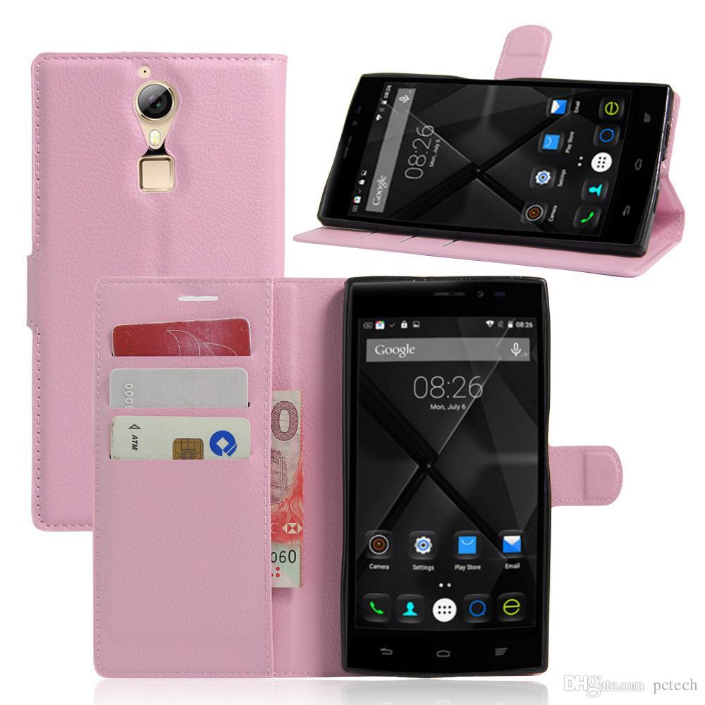 Doogee F5 cuero billetera TPU defensor casos teléfono de lujo cubierta de accesorios del teléfono