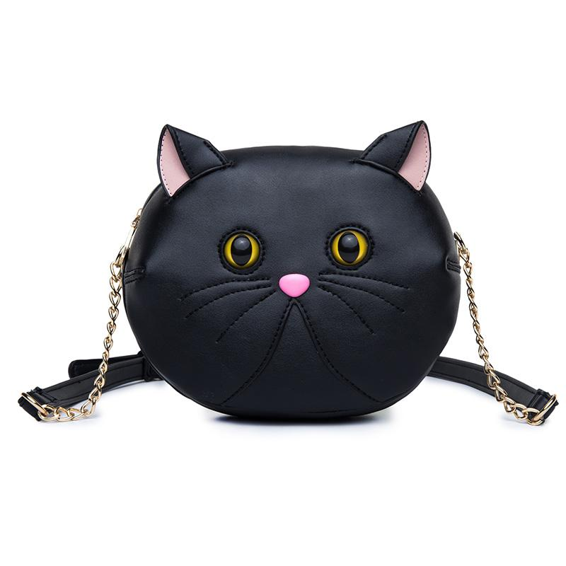 amliya 2017 new fashion style bags cute cat shape messenger bag ladies handbags unique shape cat shoulder bags high quality red handbags pink handbags from