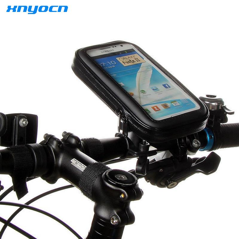 promo code eb263 686e9 WaterProof Bike Bicycle Handlebar Mount Holder Case For iPhone 6 6s 6 Plus  5 5s Bag for Samsung Galaxy S6 S4 S5 S6 Edge Note 3 4