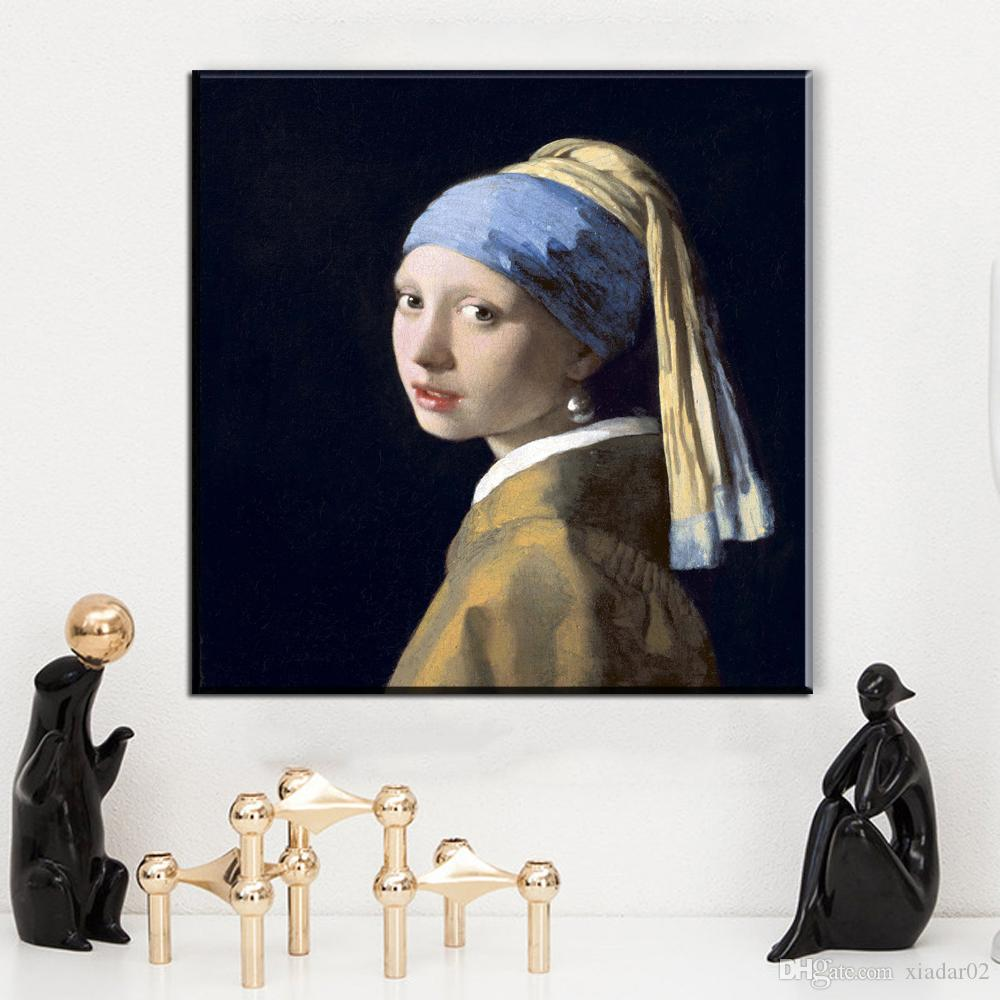 ZZ1024 modern canvas art Girl With A Pearl Earring Oil Painting Print On Canvas, Wall Pictures For Living Room, Home Decor Art