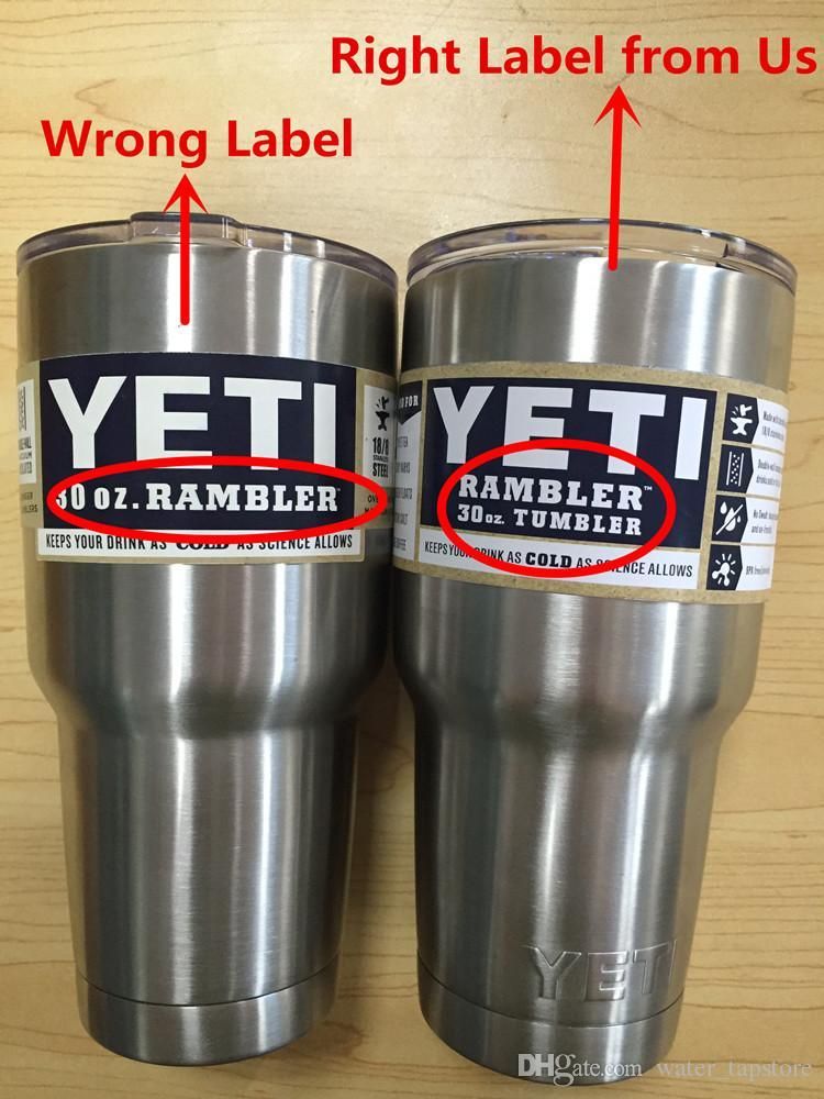 With Original Logo Label Yeti Tumbler Rambler Cups Sports