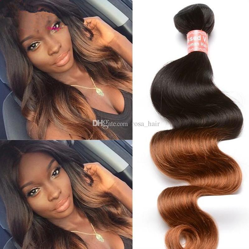 8a Cheap Ombre Brazilian Hair Extensions 3 Bundlestwo Tone Color 1b
