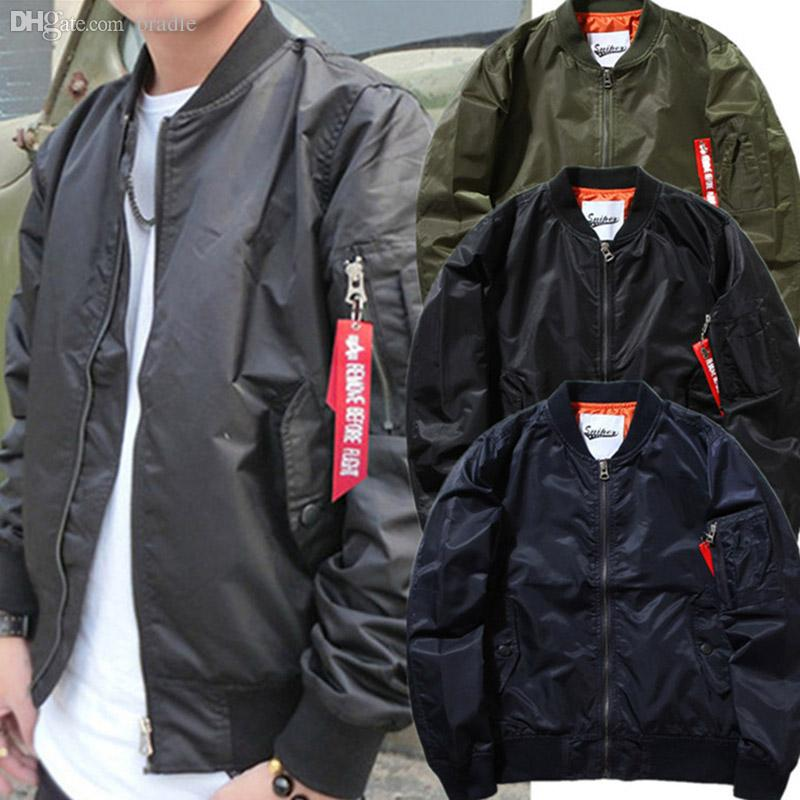 Fall 2016 New Jacket Mens Bomber Jacket Pilot Jackets Hip Hop Men ...