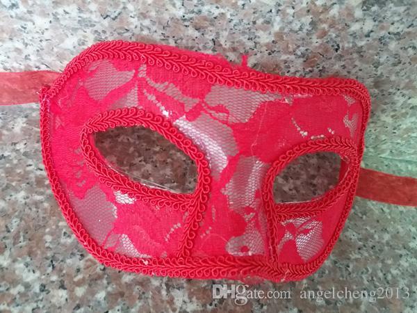 マスカレード、コスチュームボール、プロム、マルディグラの男性/女性のヴェネチアンマスカレードアイマスクアクセサリーのためのベネチアンレースマスク