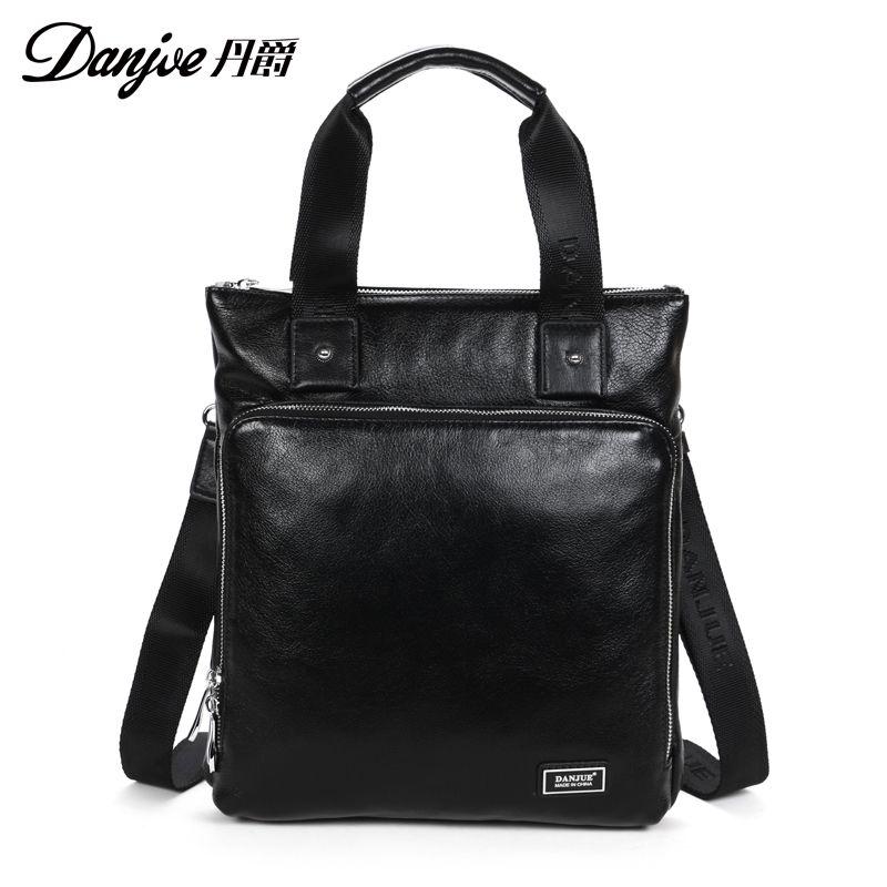DANJUE Genuine Cow Leather Men Handbag Designer Men Messenger Bag Fashion Vertical  Trendy Briefcase Male Business Men Bag DANJUE Online with  113.95 Piece ... f07823d733fdf