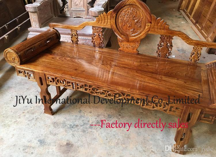 Home furniture Royal bed Daily leisure antique bed 100% luxury African Red sandalwood luxury wood chair living room chairs