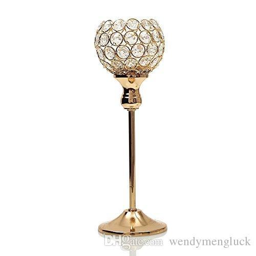 Großhandel Hochzeit Tischdekoration Leuchter Kristall Kerzenständer Teelicht Kerzenhalter Für Haus Urlaub Dekoration Muttertag Beste Geschenk Von