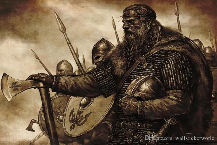 2016 Vikings Medieval Poster Painting Style Fabric Silk Poster Print Great Pictures On The Wall For Gift