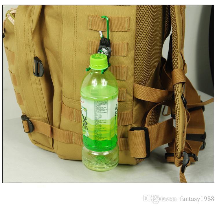 Deportes Mosquetón al aire libre con brújula Senderismo Campang Aquarius Hebilla al aire libre Artículos de viaje Gadgets Montañismo Hebilla Cuelgue botella