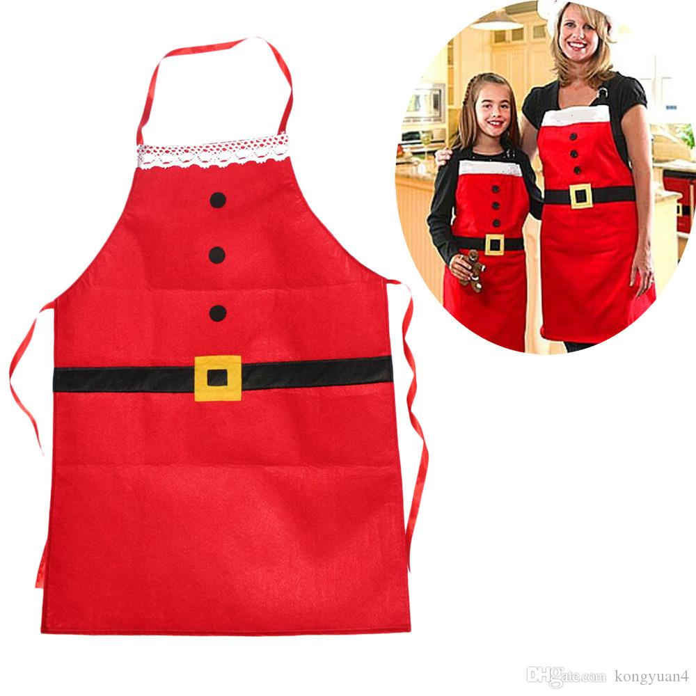 Christmas Decoration Apron Kitchen Aprons Christmas Dinner Party Apron  Santa Christmas Kitchen Apron For Adult Kids Disposable Aprons Aprons For  Kids From ...