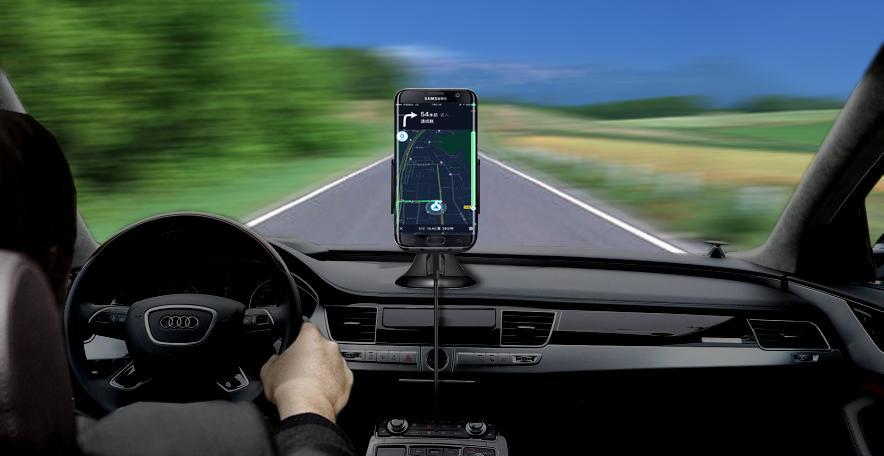 9V 1.67A Быстрая зарядка Qi Беспроводное автомобильное зарядное устройство для держателя телефона для Samsung Galaxy S8 Edge Plus iPhone8 Plus в розничном /