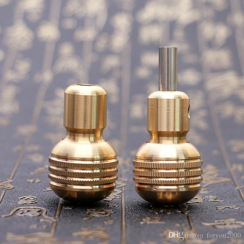High Quality 30mm Tattoo Grip Professional Copper Knurled Twist Self-locking Tattoo Grip for Tattoo Gun TG2121