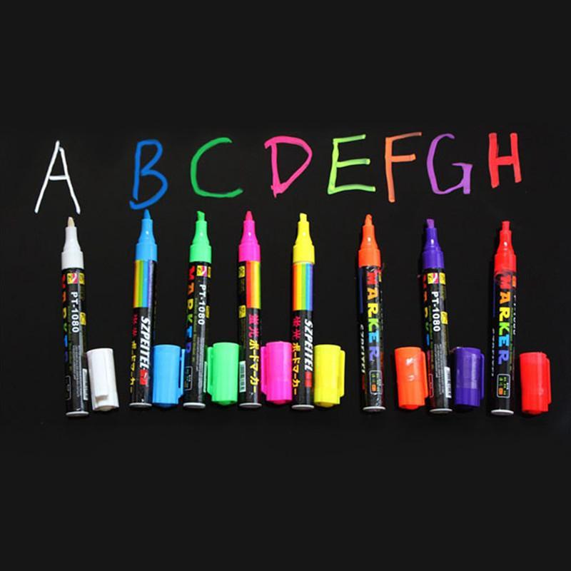 Wholesale Freen Shipping Highlighter Fluorescent Liquid Chalk Marker