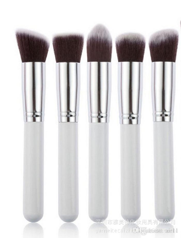 Profissional Pó Blush Escova Facial Cuidados Facial Beleza Cosméticos Stipple Fundação Pincel de Maquiagem Ferramenta 5 pçs / set em estoque 120 conjunto