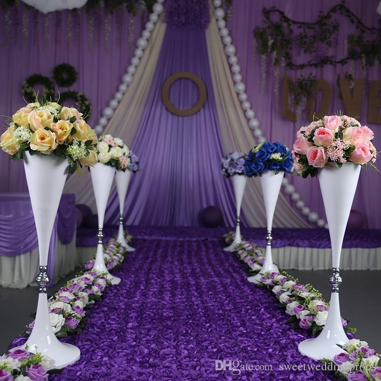 não incluindo flor melhor venda de candelabros de ouro de casamento de 70 cm à venda