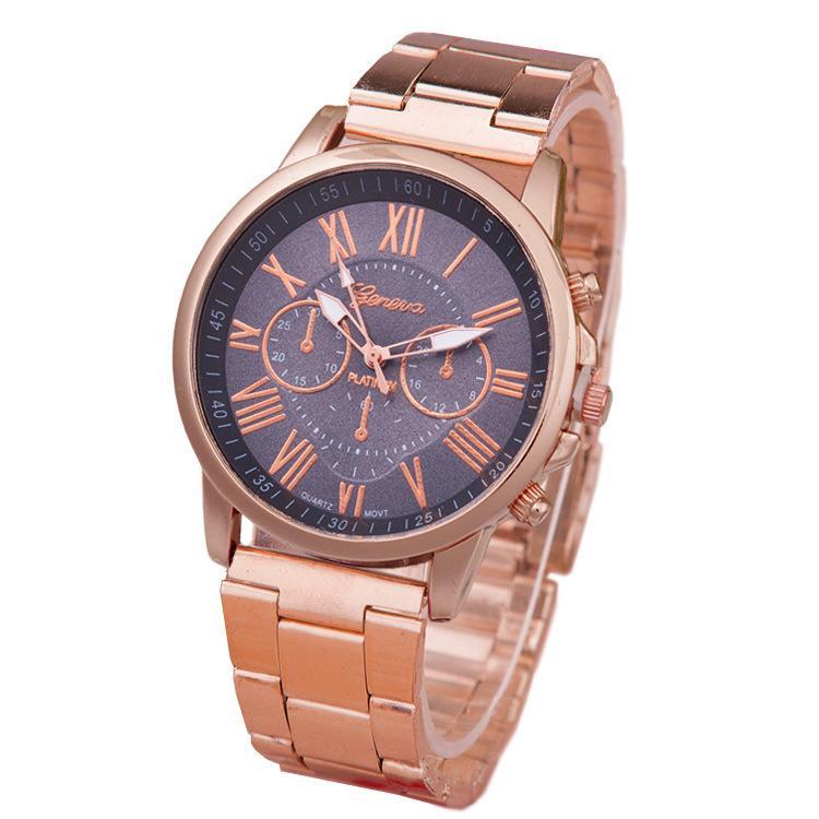 93cac801199 Compre Pulseira De Aço Inoxidável De Luxo Banda Relógios Para As Mulheres  Senhora 13 Cores Rose Gold Quartz Moda Vestido Genebra Relógio Feminino  Homens ...