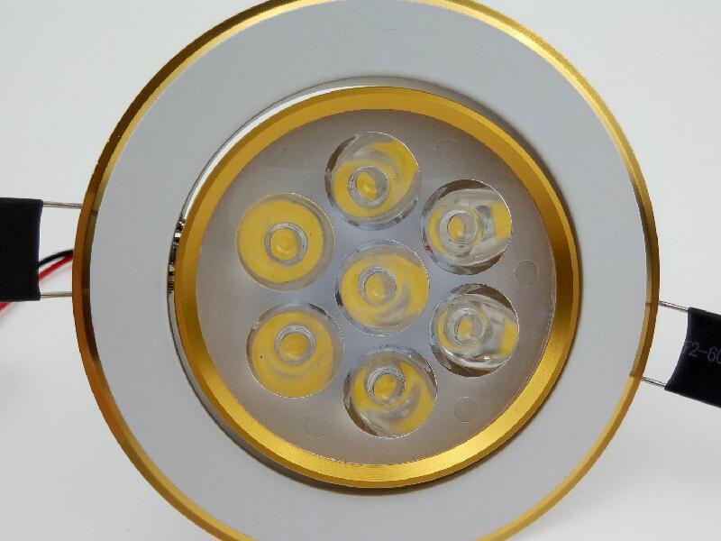 Iluminación de techo LED empotrable 110V 220V empotrada 7W Blanco cálido Blanco natural Blanco fresco Downlights para Interio Focos decorativos