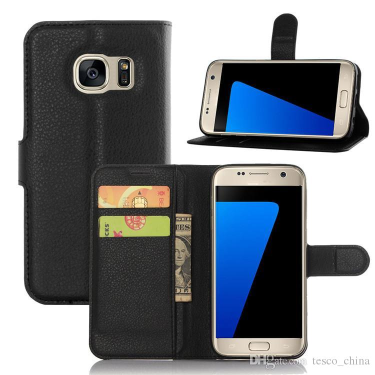 more photos 7f768 00734 For Samsung S7 Case Cover Luxury PU Leather Wallet Case Stand Flip Card  Holder Phone Holster for Samsung Galaxy s7 Edge case