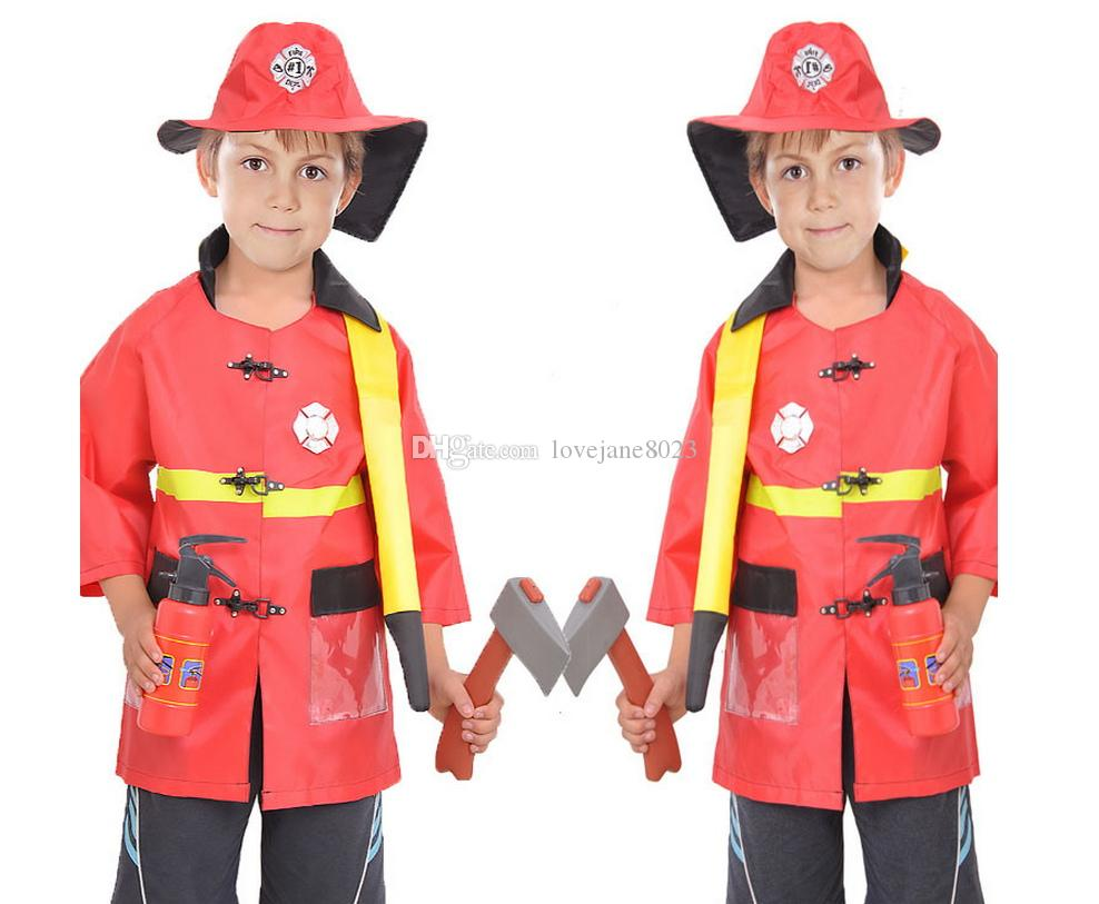 cosplay costumes halloween party firefighter fireman costume hat uniform occupation 3 7y c51 infant halloween costumes womens halloween costumes from - Fireman Halloween