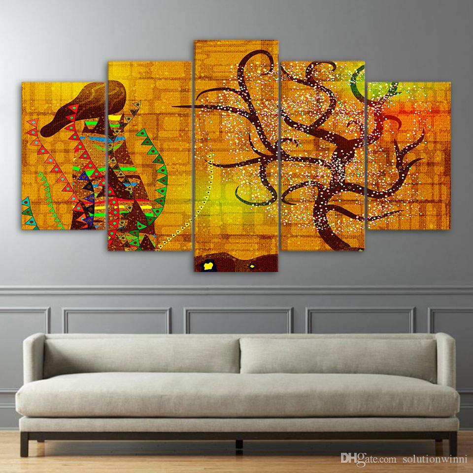 Framed HD Printed Gustav Klimt Practice Poster Pictures Room Decoration Canvas Wall Art Modern Cartoon Movie Oil Painting