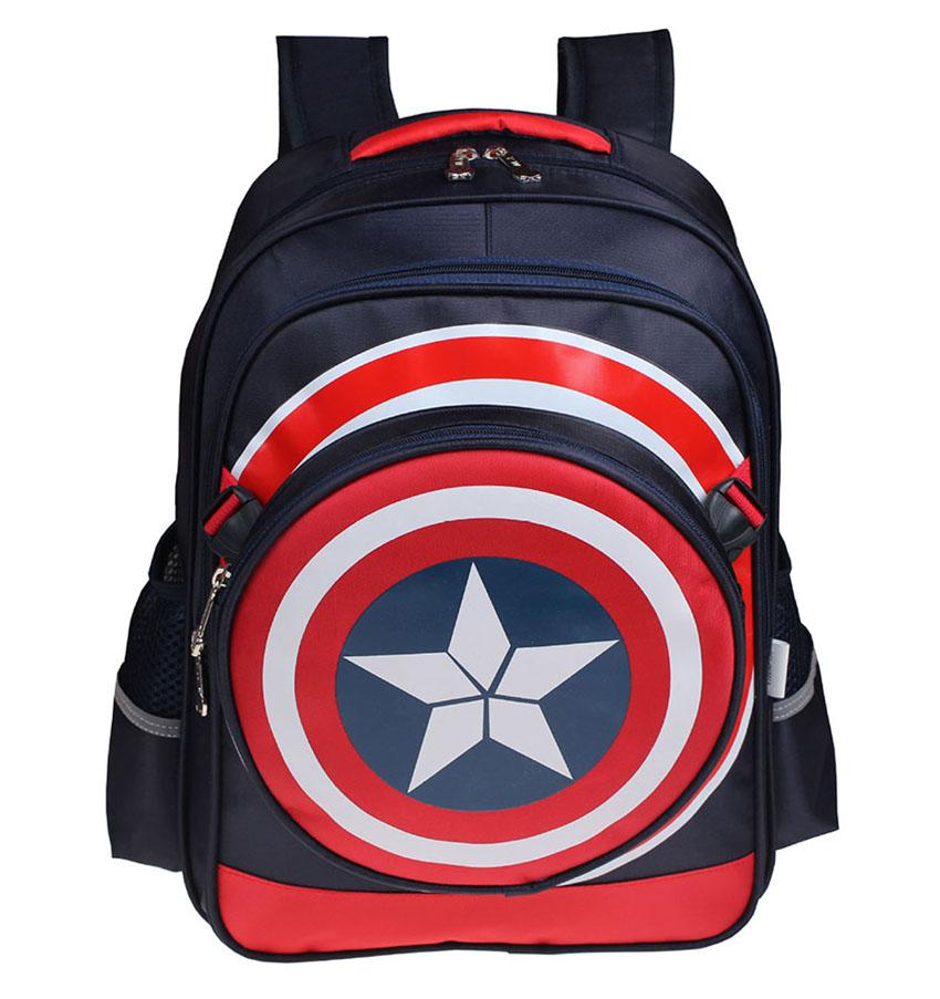 b25167cca6 Captain America Student Backpack Children Pupil School Bags Unisex Bags  Nylon Backpacks Kids Bookbag Bag With Big Small Size KBB049 Laptop Bags  Messenger ...