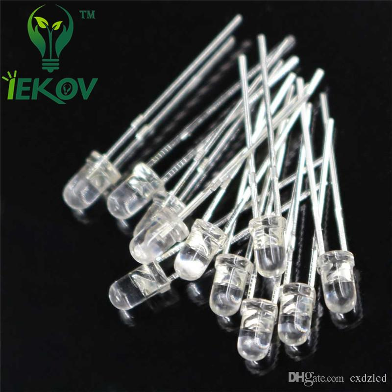 /bag 3MM Round Top Red leds Urtal Bright Light Bulb Led Lamp 3mm Emitting Diodes Electronic Components Wholesale Hot Sale