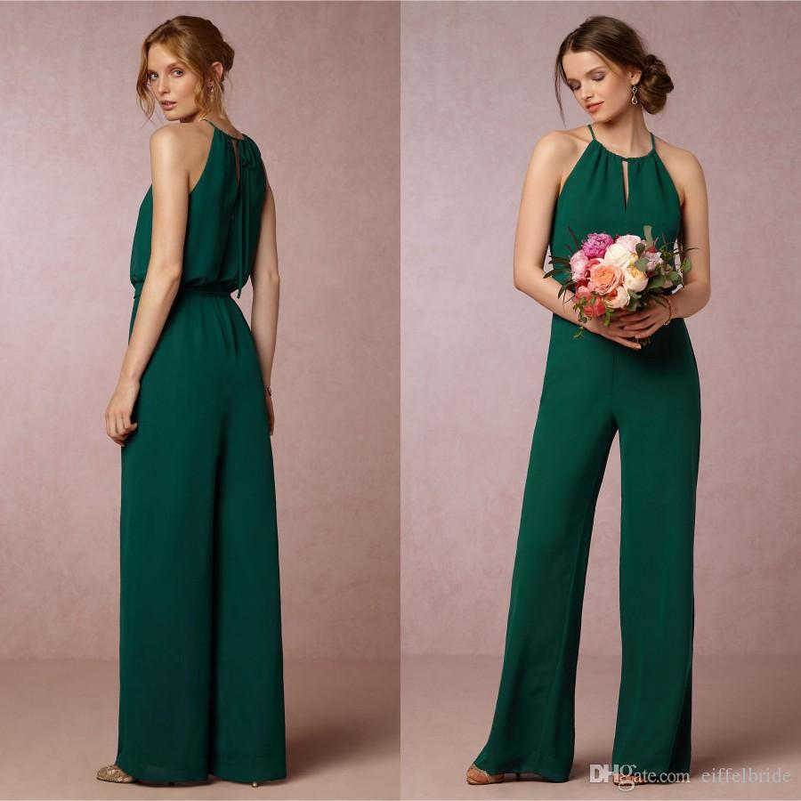 New style country bridesmaid dresses 2016 sexy green jewel neck new style country bridesmaid dresses 2016 sexy green jewel neck elegant empire chiffon bridesmaids dress pant suit plus size brides maids bridesmaids dress ombrellifo Image collections