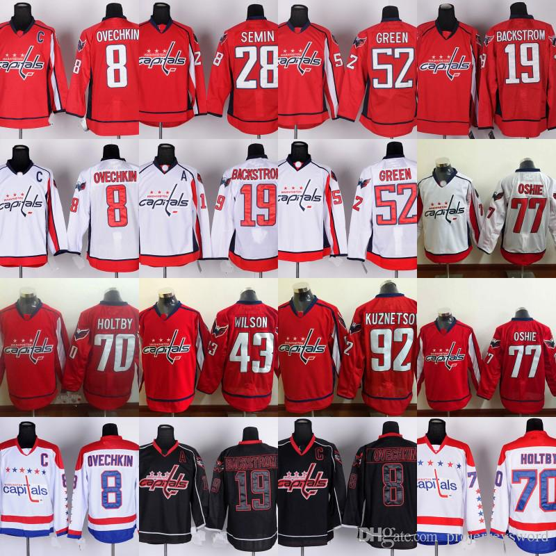 ... 2017 8 alex ovechkin jersey mens washington capitals 19 nicklas  backstrom 28 paul carey 52 mike