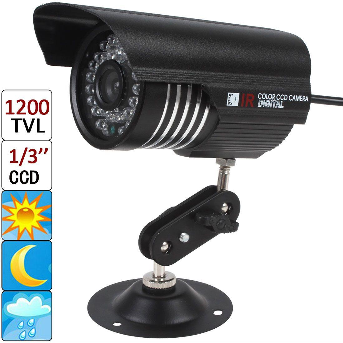 Obiettivo 1200 TVL 6mm 36 LED IR IP66 Impermeabile Night Vision Camera con sensore 1/3