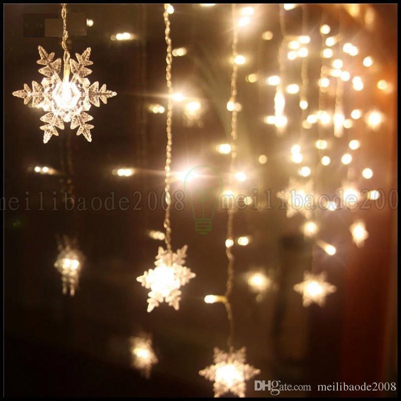 Multi 3.5M 100SMD Schnur-Vorhang der Schneeflocke-LED beleuchtet Feiertags-Weihnachtshochzeits-Dekor LLWA220