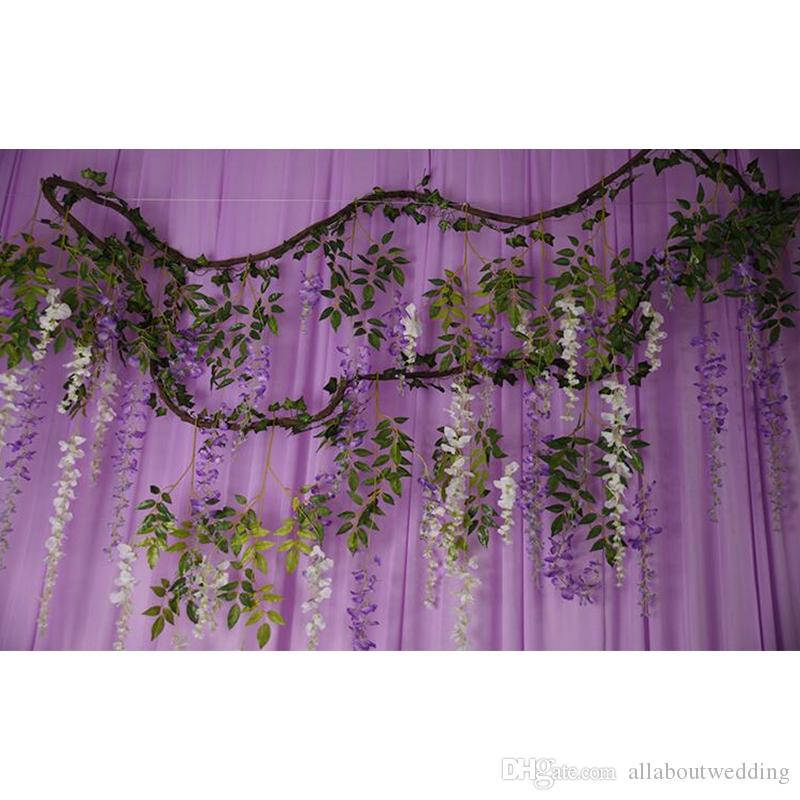 Garland flowers artificial wisteria withered vine wedding see larger image junglespirit Images